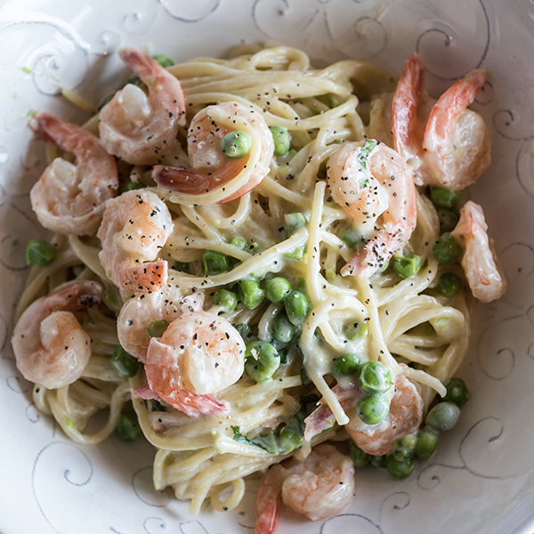 One-Pot Shrimp Alfredo