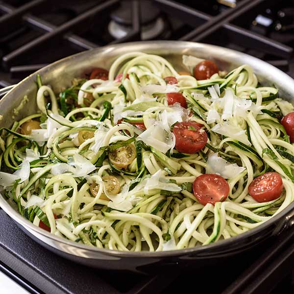 One-Pot Pasta Zoodle Caprese
