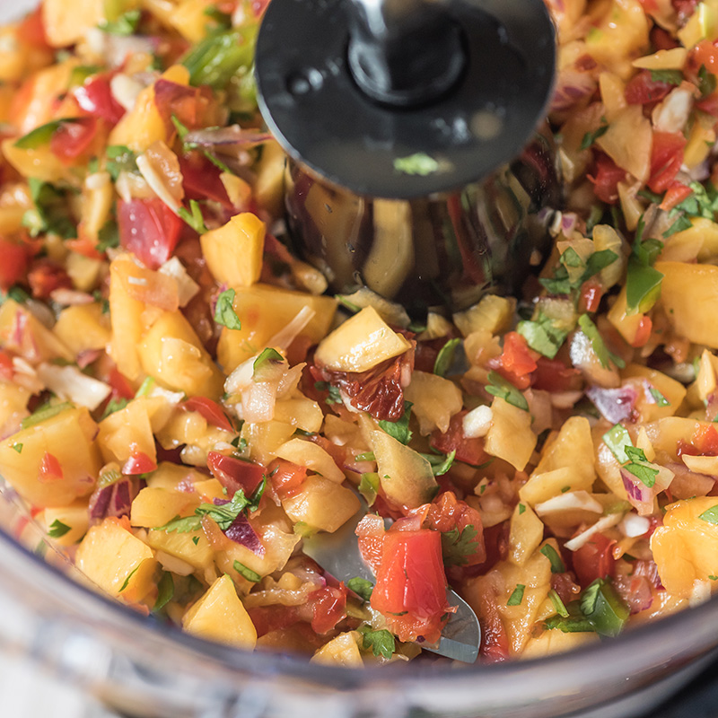 Peach and Peppers Salsa