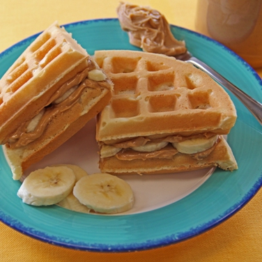 Recipe - Peanut Butter Banana Waffles