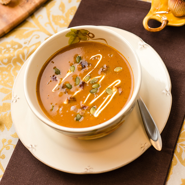 Slow Cooker Savory Pumpkin Soup