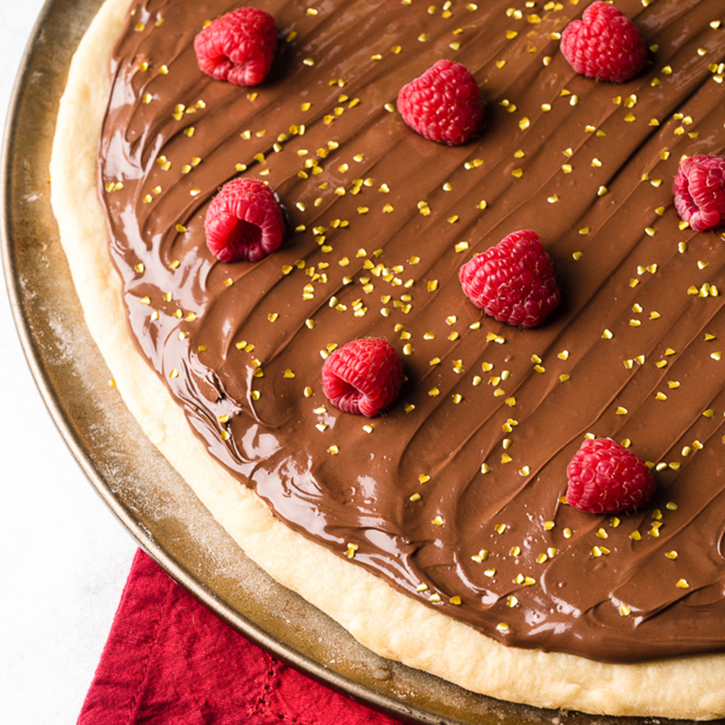 Nutella Raspberry Valentine's Day Pizza