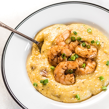 Rice Cooker Cajun Shrimp and Grits
