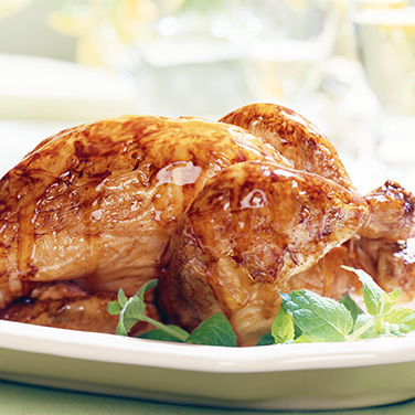 Roast Chicken with Honey Mustard Glaze