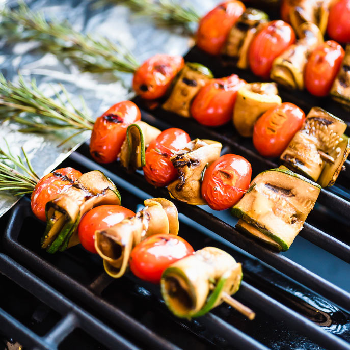 Rosemary Skewered Vegetable Kabobs
