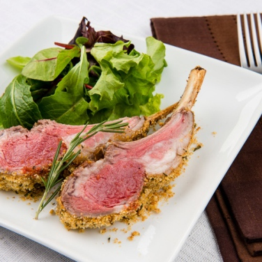 Rosemary and Garlic Roasted Rack of Lamb