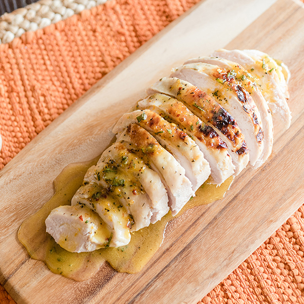 Sous Vide Turkey Breast with Orange-Rosemary Butter