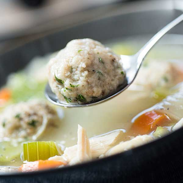 Slow Cooker Easy Matzo Ball Soup