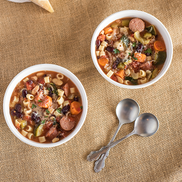 Slow Cooker Minestrone with Kale & Kielbasa