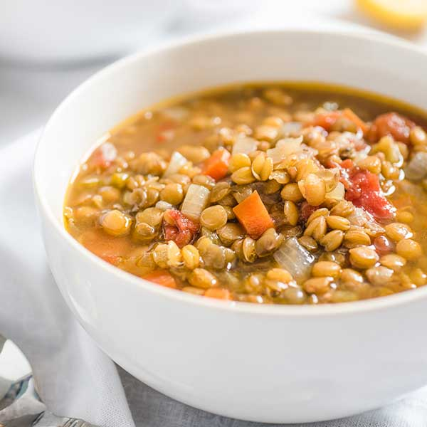 Slow Cooker Vegetarian Lentil Soup