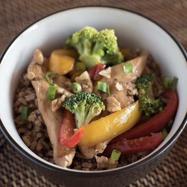 chicken and broccoli made in a slow cooker