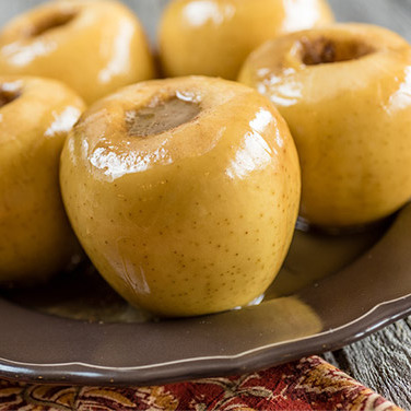 Sous Vide Baked Apples with Caramel Sauce