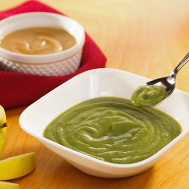 Baby Food Spinach and Pear Puree