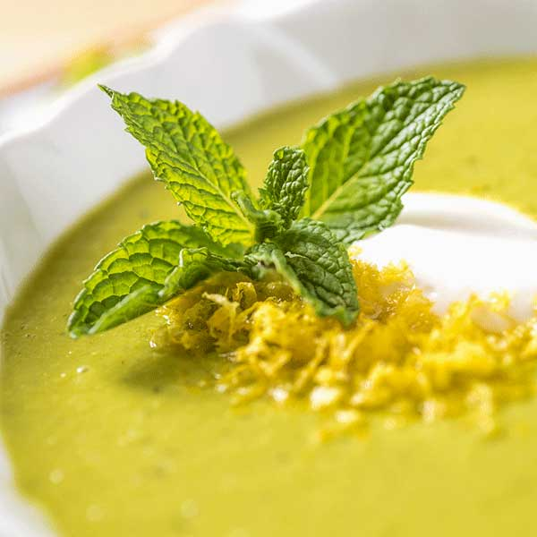 Spring Pea Soup with Lemon and Mint