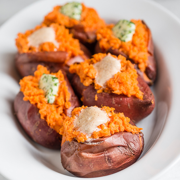 Sweet or Savory Baked Sweet Potatoes