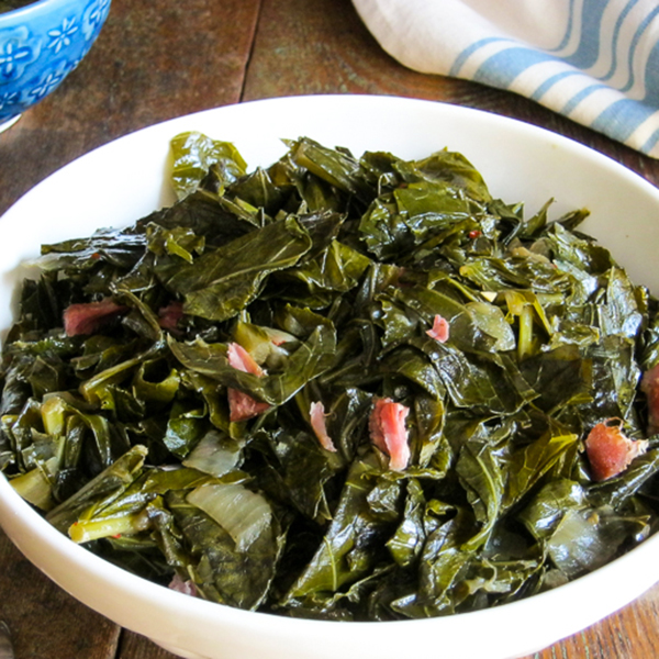 Slow Cooker Sweet and Spicy Collard Greens