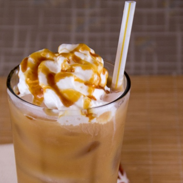 Vanilla Caramel Iced Coffee for Personal Brewer