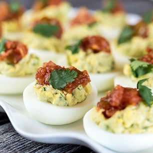 Avocado Deviled Eggs image