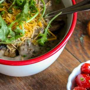 Slow Cooker Cheeseburger Soup image