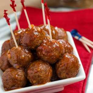 Slow Cooker Easy Barbecue Meatballs image