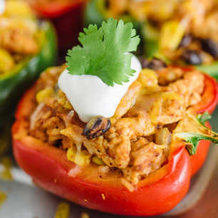 Healthy Southwest Stuffed Peppers image