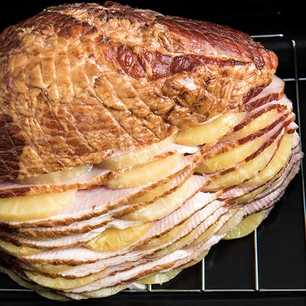 Hasselback Ham with Pineapple image