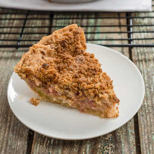 Rhubarb Custard Pie image