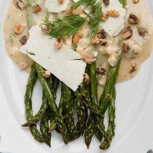 Roasted Asparagus Salad with Blue Cheese Vinaigrette image