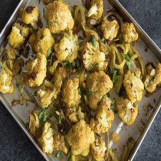 Sheet Pan Roasted Curried Cauliflower image