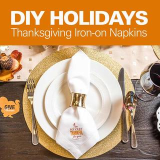 Click for DIY Holidays: Thanksgiving Iron-On Napkins