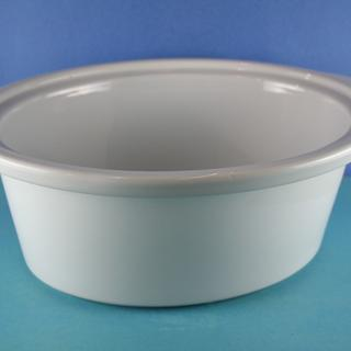 Crock-6.5 Qt, Oval, White