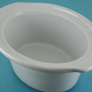 Crock-2.5/3 Qt, Oval, White