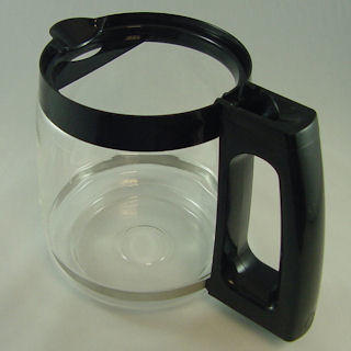 Carafe, Glass, Black, No lid