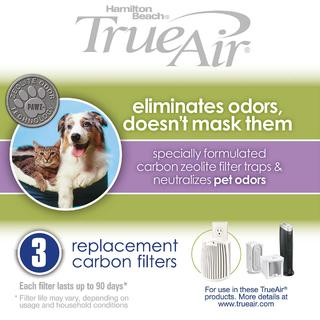 TrueAir® Replacement Air Filters 3-Pack for Pet Odors