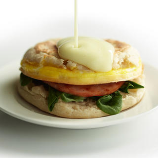 Related recipe - Eggs Benedict Breakfast Sandwich with Hollandaise Sauce