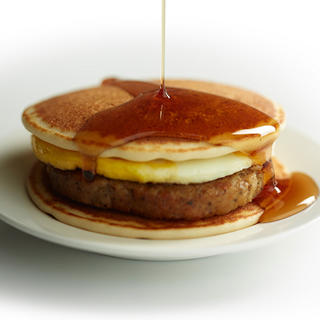 Pancakes and Sausage Breakfast Sandwich image