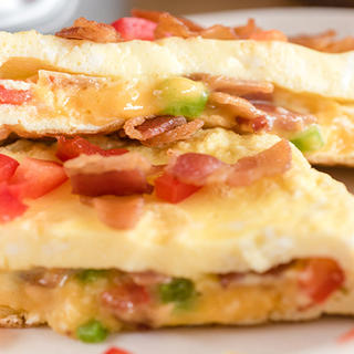 Personal-Size Bacon and Cheese Omelet image