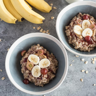 Peanut Butter and Jelly Oatmeal Bowl image