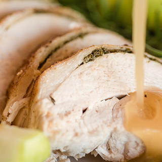 Apple Herb Roasted Turkey and Turkey Breast image