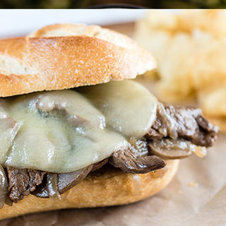 Slow Cooker Philly Cheesesteak Sub image
