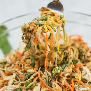 Spiralizer Thai Vegetable and Chicken Salad image