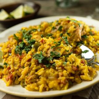 Slow Cooker Arroz con Pollo image