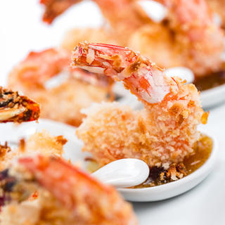 Baked Coconut Shrimp with Curried Chutney image