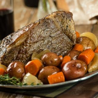 Slow Cooker Beef Roast with Vegetables  image