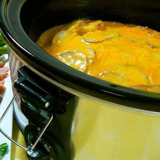 Slow Cooker Cheesy Scalloped Potatoes image