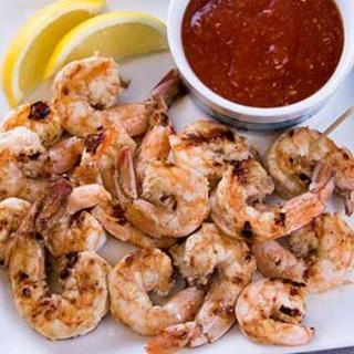 Easy Marinated Basket Grilled Shrimp image