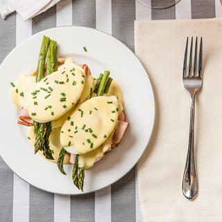 Related recipe - Eggs Benedict with Ham and Roasted Asparagus