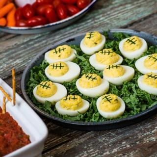 Related recipe - Football Deviled Eggs