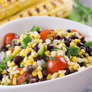Grilled Corn and Black Bean Salad with Cilantro Lime Dressing image