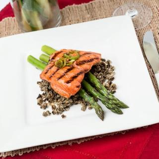 Grilled Maple Glazed Salmon image